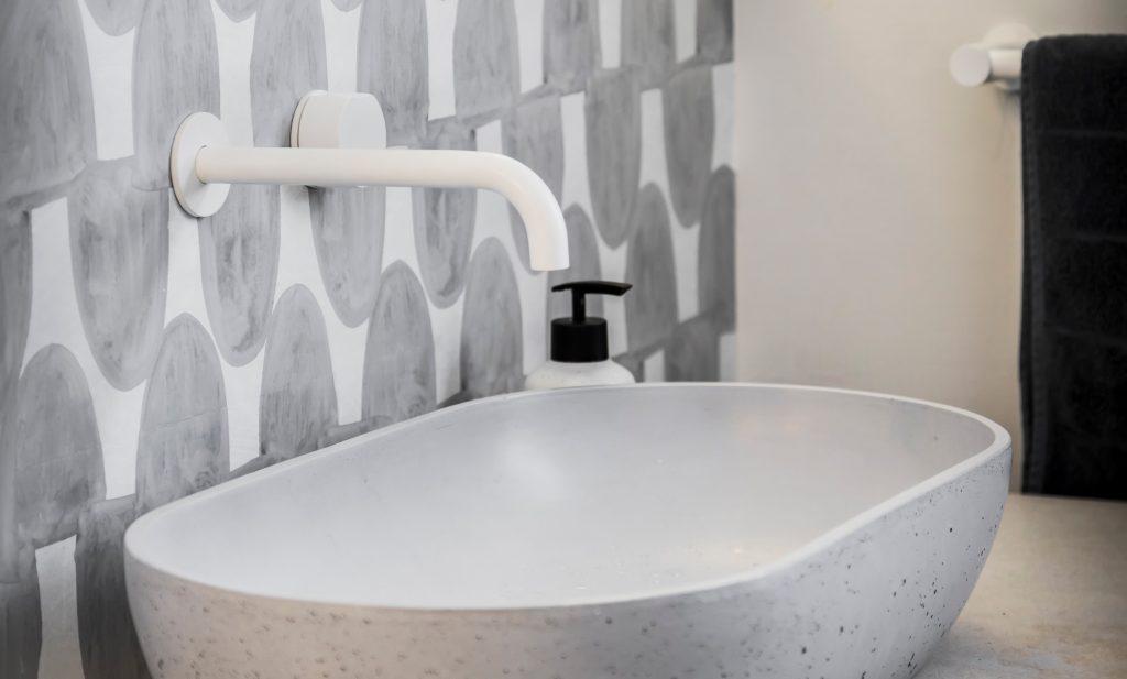 Heritage home renovation - concrete sink