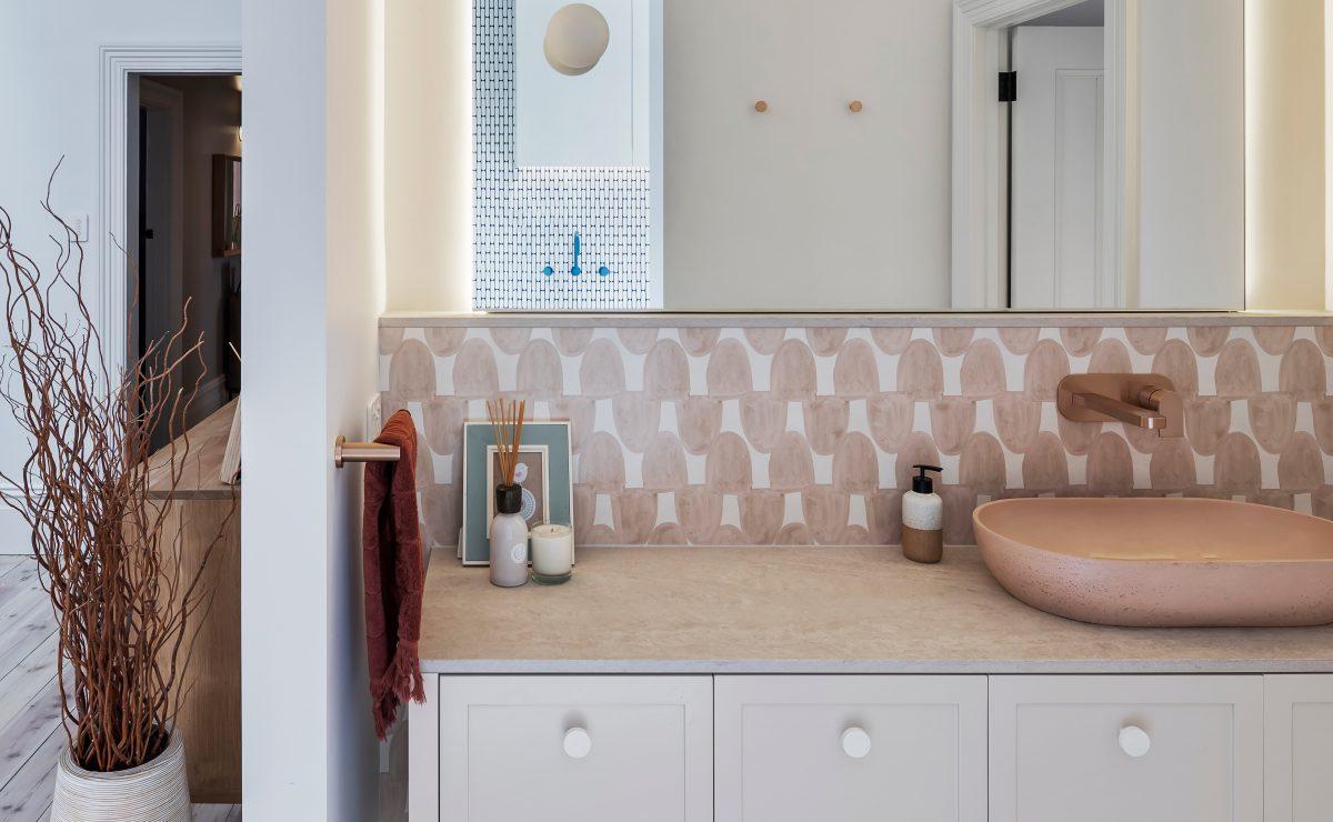 Heritage home renovation - bathroom vanity