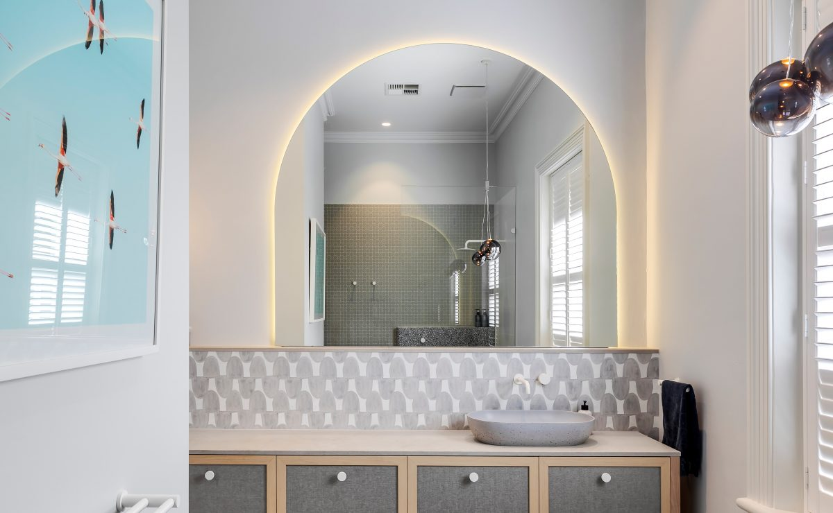 Heritage home renovation - mirror